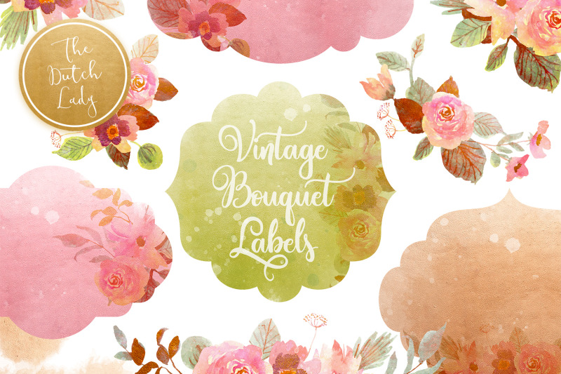 vintage-bouquet-amp-label-clipart-set
