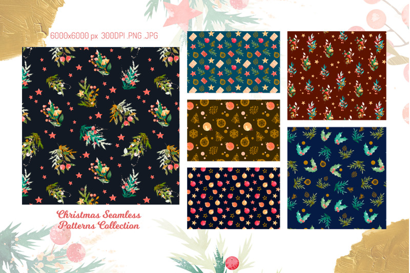 christmas-seamless-patterns-collection