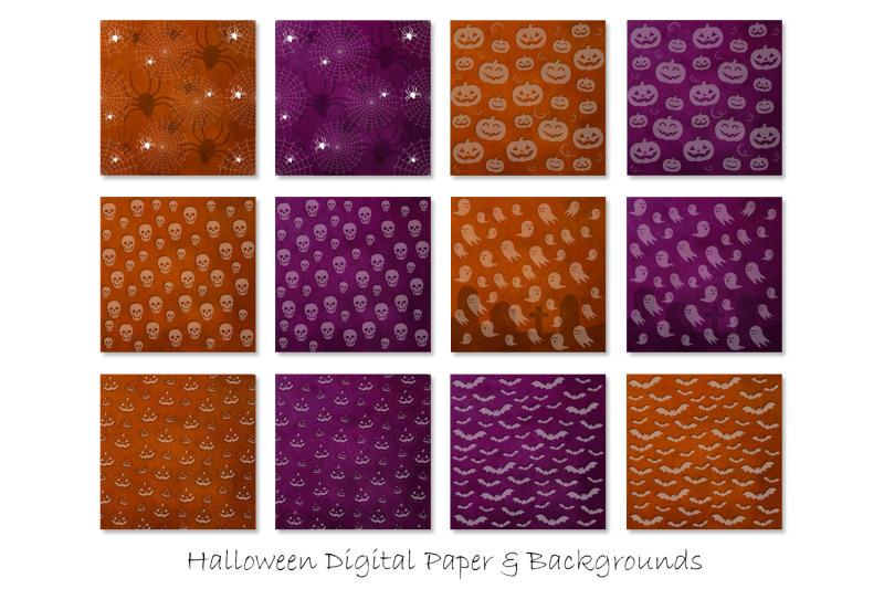 halloween-digital-paper-halloween-background-patterns