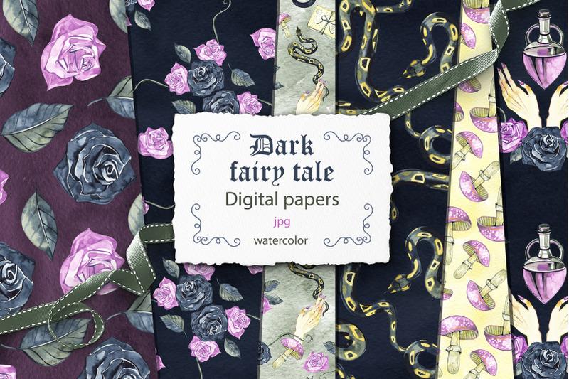 dark-fairy-tale-digital-papers