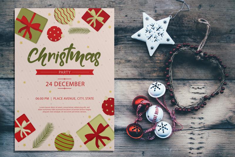 Free Christmas Card Mockup (PSD Mockups)