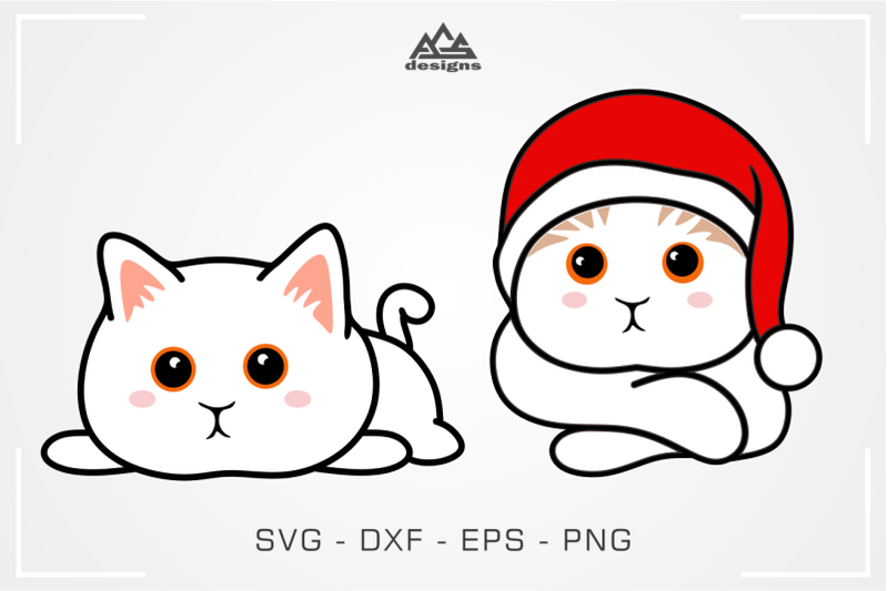 Download Cute Kitty Cat Svg Design By AgsDesign | TheHungryJPEG.com
