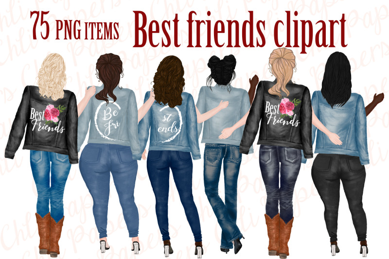 best-friends-clipart-jeans-and-legs-plus-size-girls