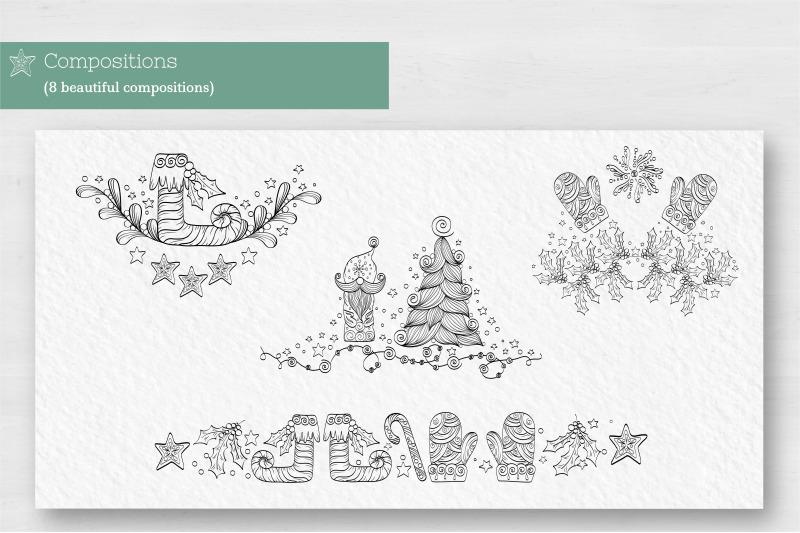 Doodle Christmas Vector Collection By Zenart Studio By Tatyana