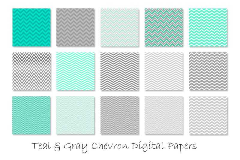 teal-amp-gray-chevron-patterns