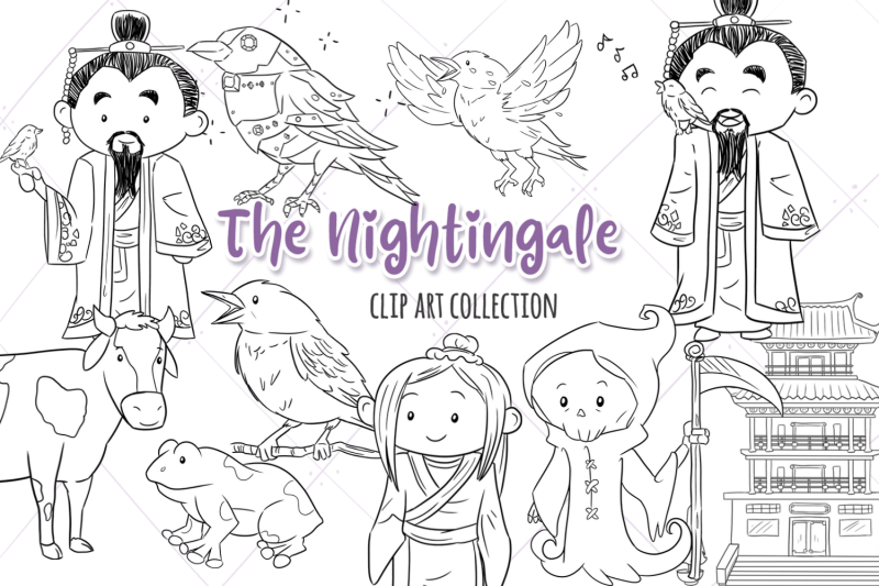 the-nightingale-story-book-digital-stamps