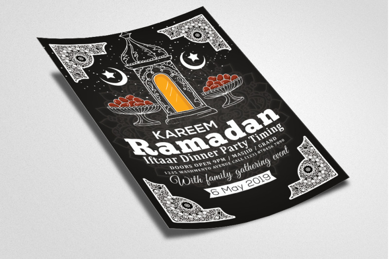 retro-style-ramadan-kareem-flyer-template