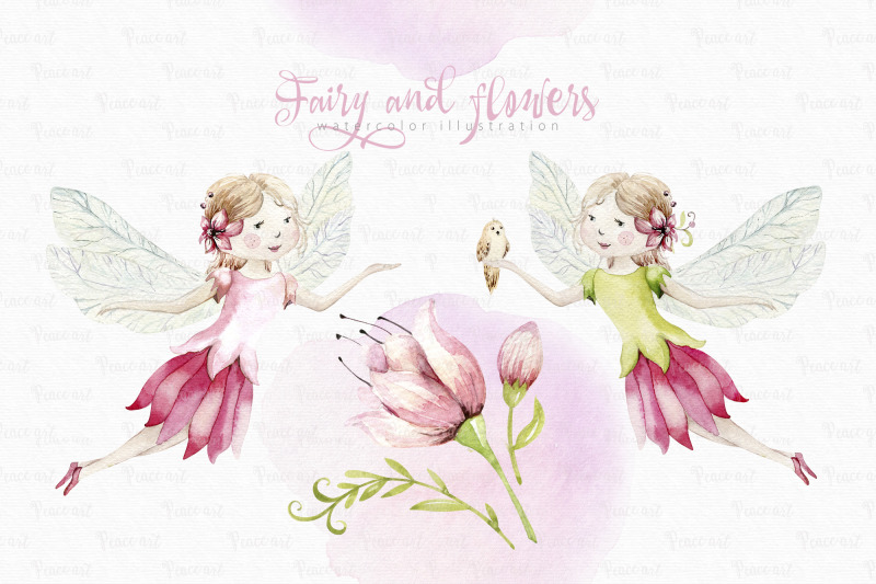 fairy-and-flowers