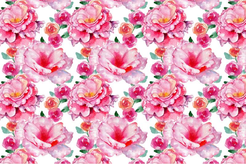 roses-flowers-pink-png-watercolor-set