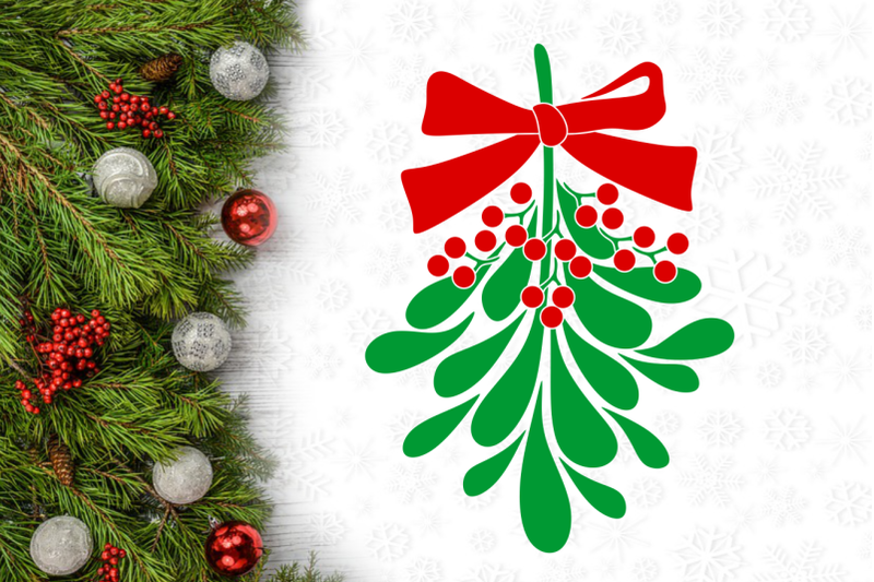 mistletoe-christmas-svg-design