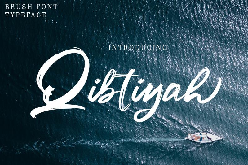 qibtiyah-brush-font