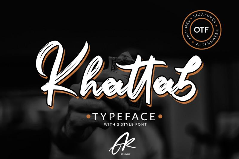 khattab-brush-font-font-duo