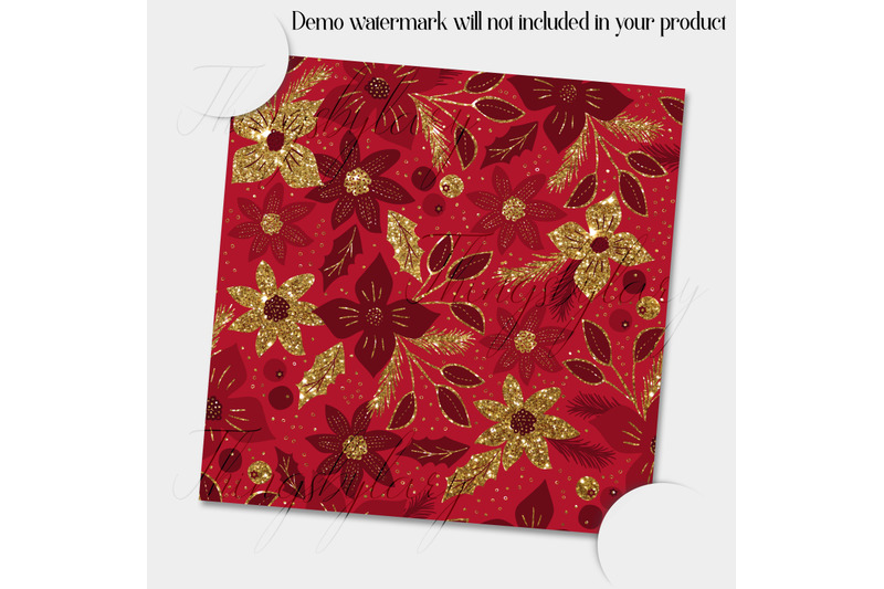 100-seamless-glitter-gold-christmas-floral-digital-papers