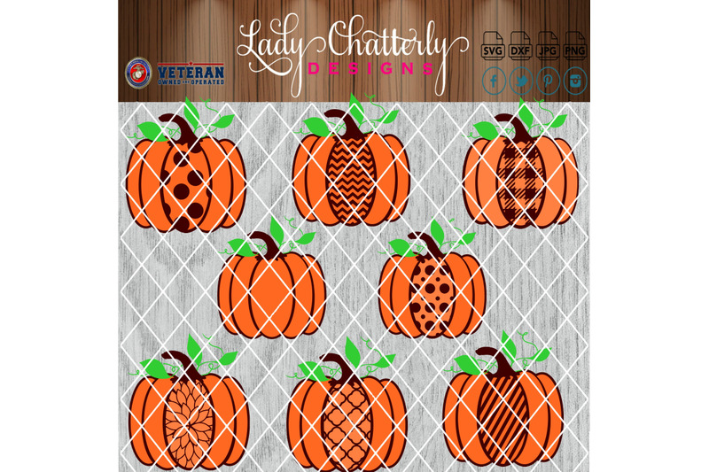 fall-pumpkins-with-patterns-and-background