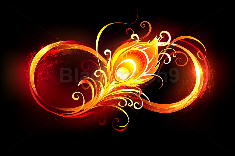 fiery-infinity-symbol-with-peacock-feather