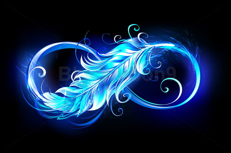 fiery-symbol-of-infinity-with-feather