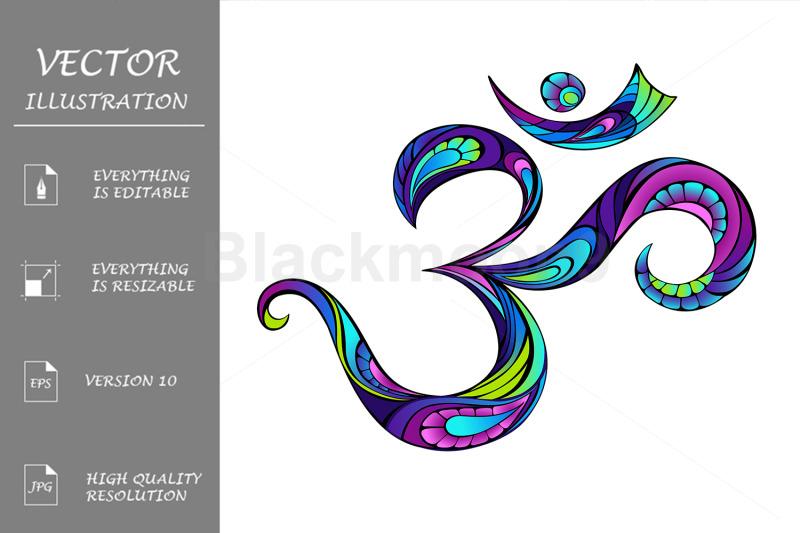 patterned-symbol-om