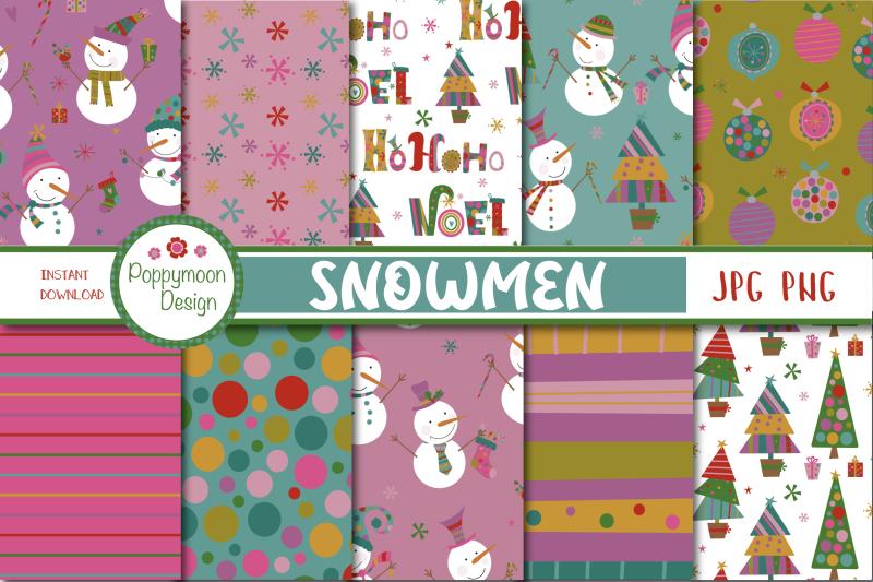 snowmen-paper