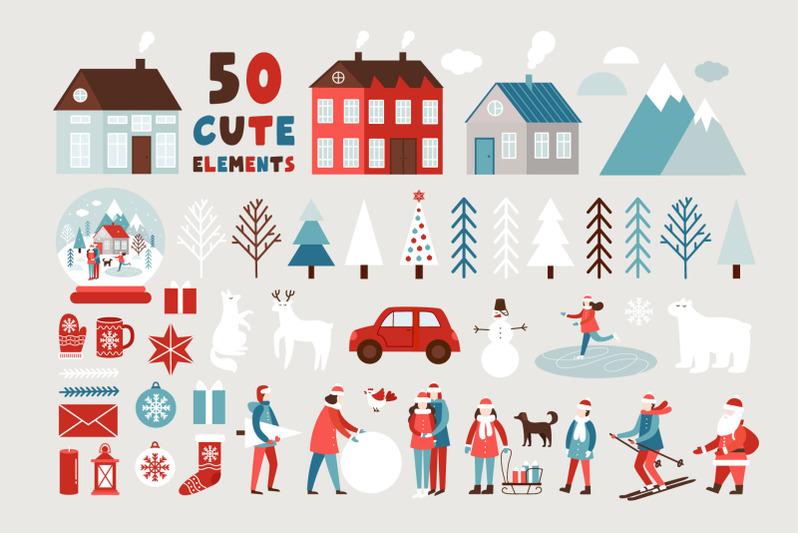 christmas-story-illustration-set