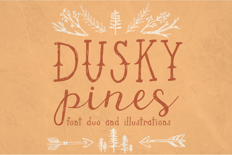 dusky-pines-font-duo-illustrations