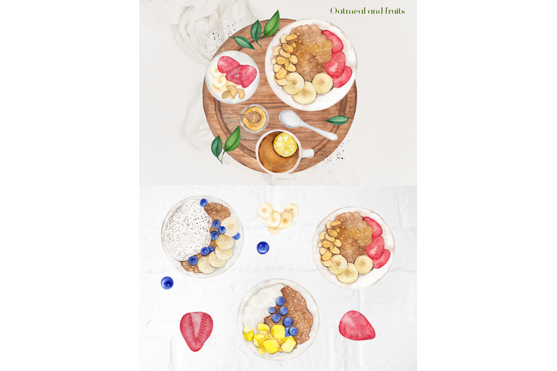 time-for-breakfast-watercolor-collection