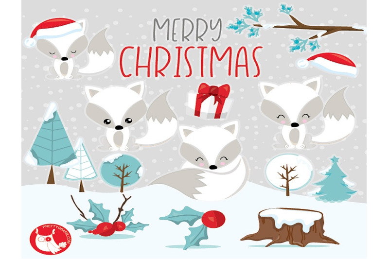 christmas-foxes-clipart