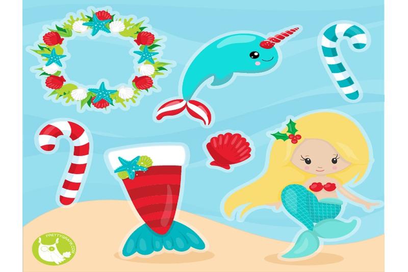 christmas-mermaid-clipart