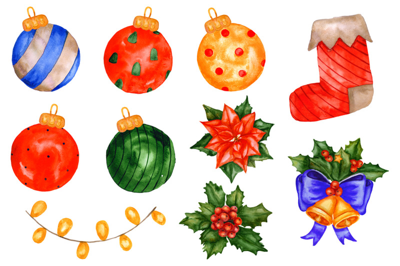 christmas-watercolor-collection