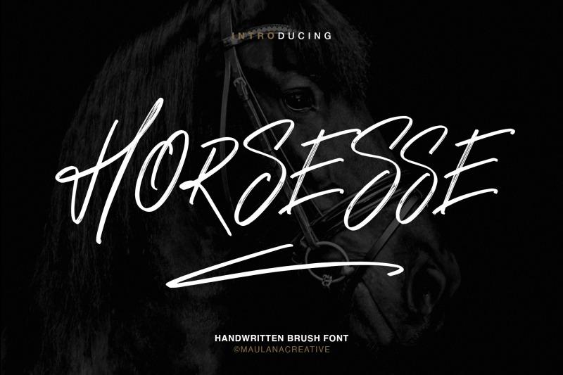 horsesse-brush-font