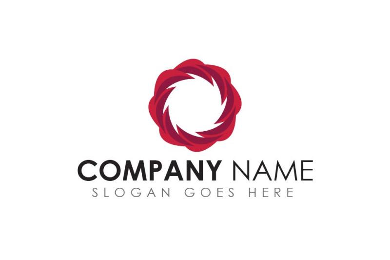 geometric-red-color-circle-logo
