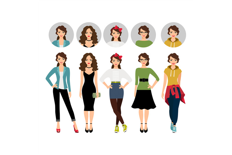 female-model-in-different-style-clothes
