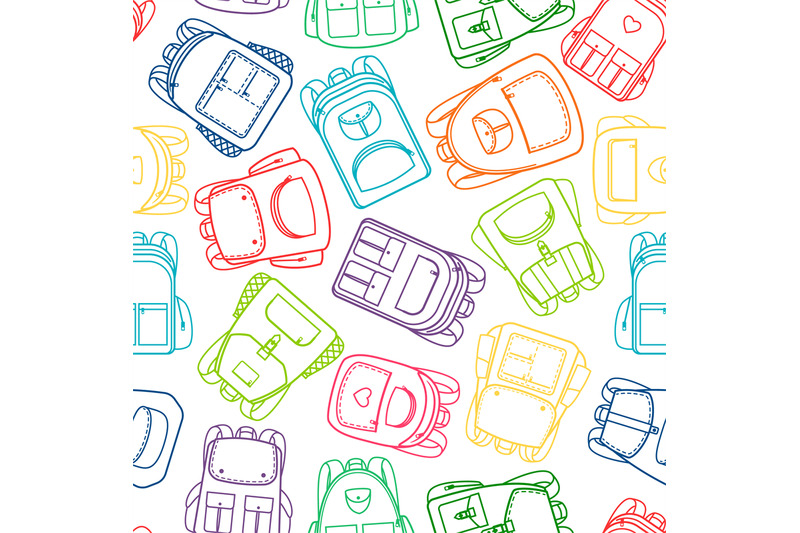 school-pattern-with-colorful-outline-backpacks