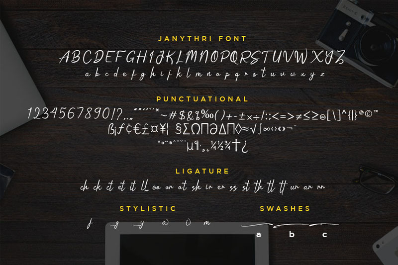 janythri-script-typeface