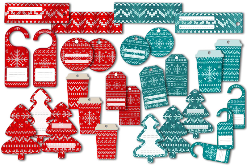 knitted-christmas-patterns-and-finished-labels