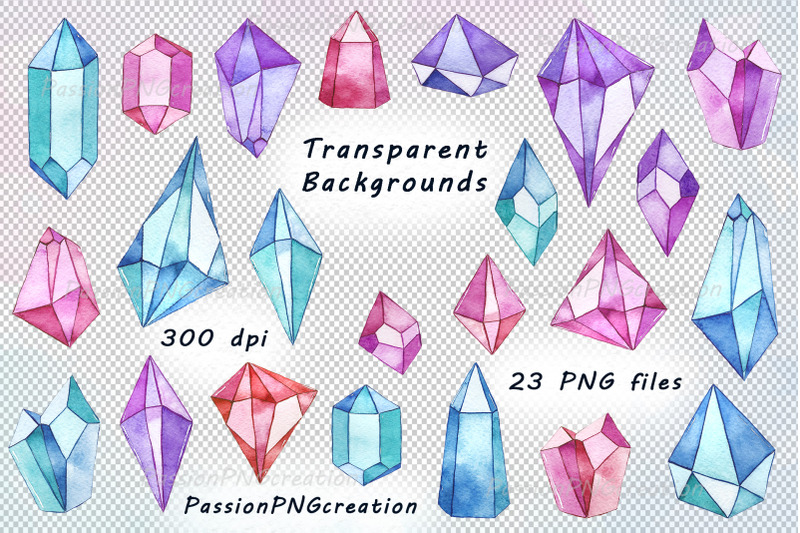 watercolor-gems-and-crystals-clipart
