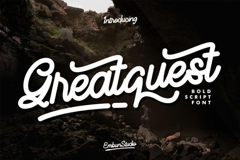 greatquest-bold-script-font