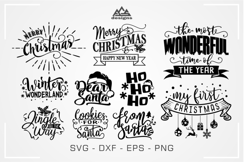 christmas-quote-packs-svg-design