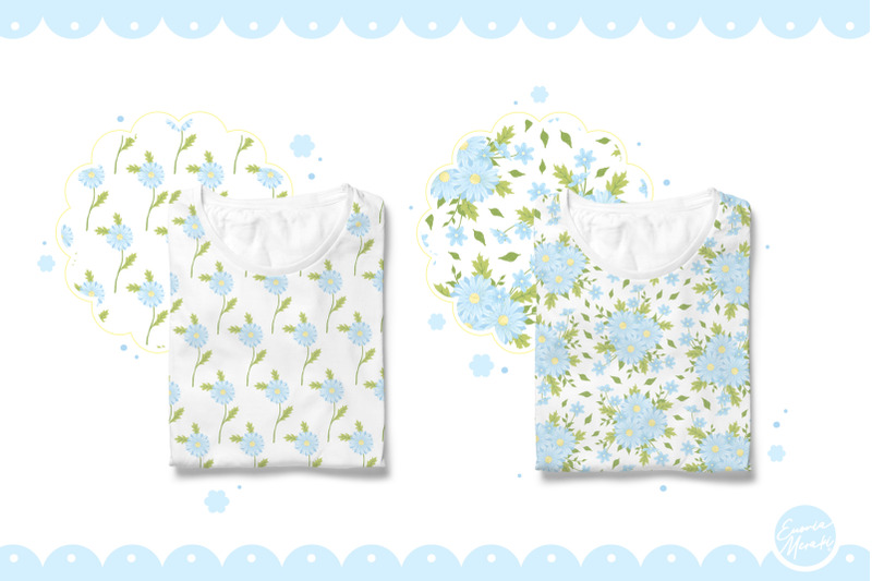 blue-daisy-flower-seamless-patterns