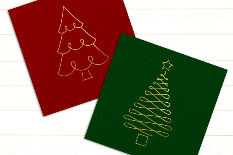 christmas-tree-duo-single-line-sketch-for-pens-svg-png-dxf