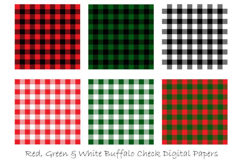 christmas-plaid-digital-papers-christmas-buffalo-check