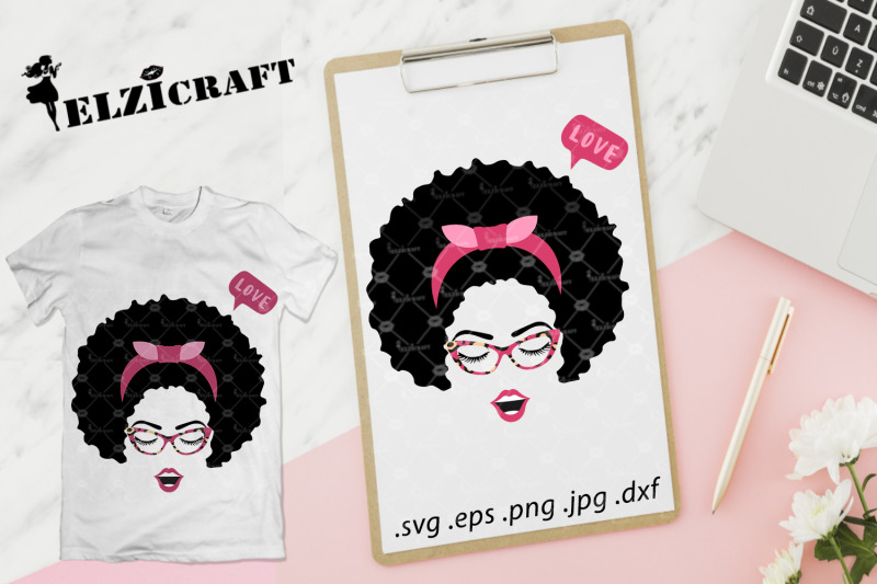 afro-woman-face-afro-hair-makeup-lips-glasses-svg-cut-file
