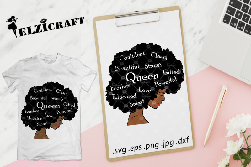 afro-woman-queen-afro-hair-queen-life-svg-cut-file