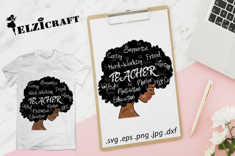 afro-woman-afro-hair-teacher-school-teacher-life-svg-cut-file