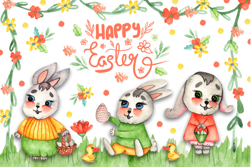 watercolor-easter-bunnies-illustrations