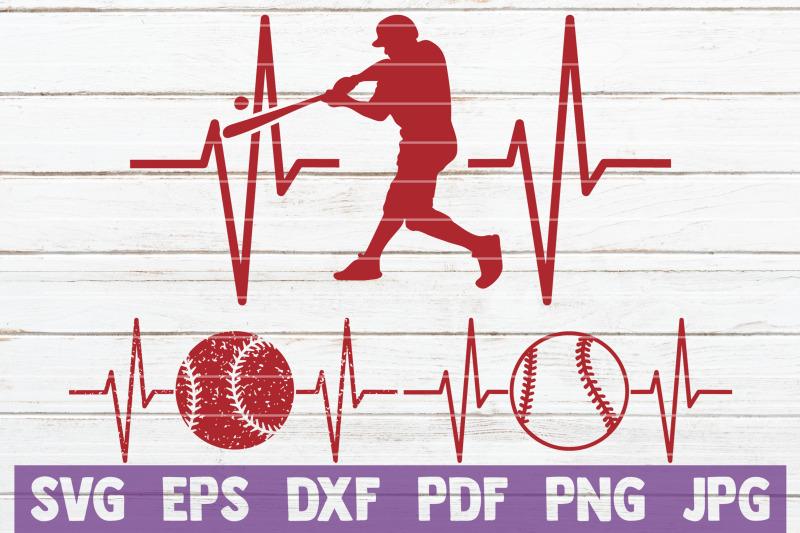 baseball-heartbeat-svg-cut-file