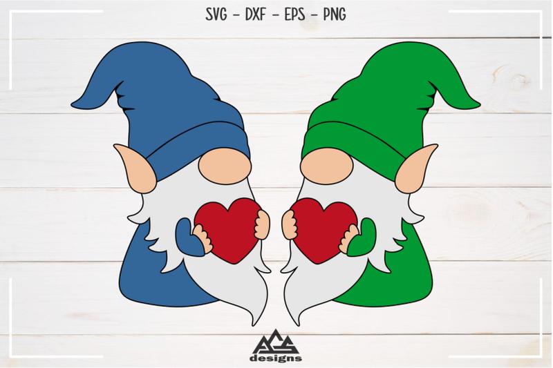 Download Gnome Valentine Heart Love Svg Design By AgsDesign ...