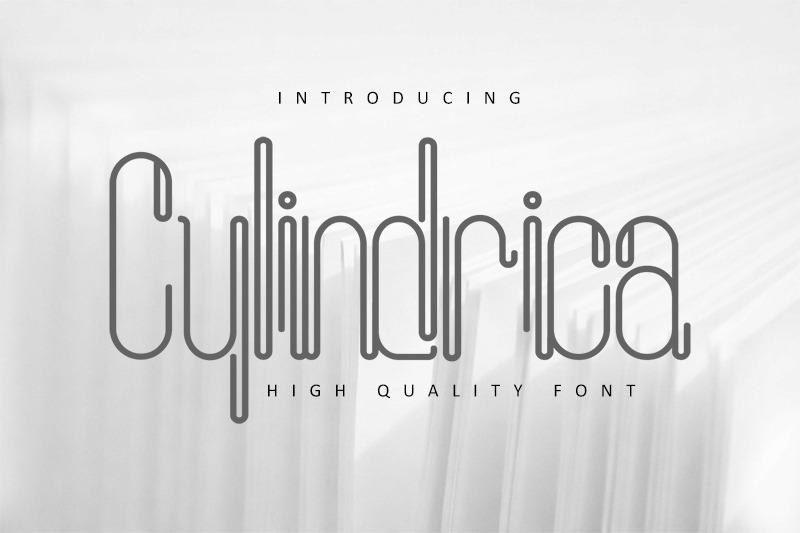 cylindrica-font