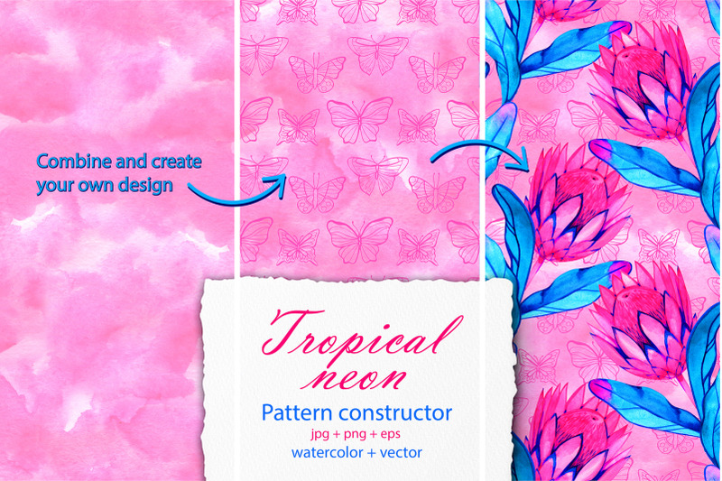 tropic-neon-pattern-constructor