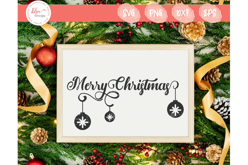 merry-christmas-with-christmas-ornaments-svg