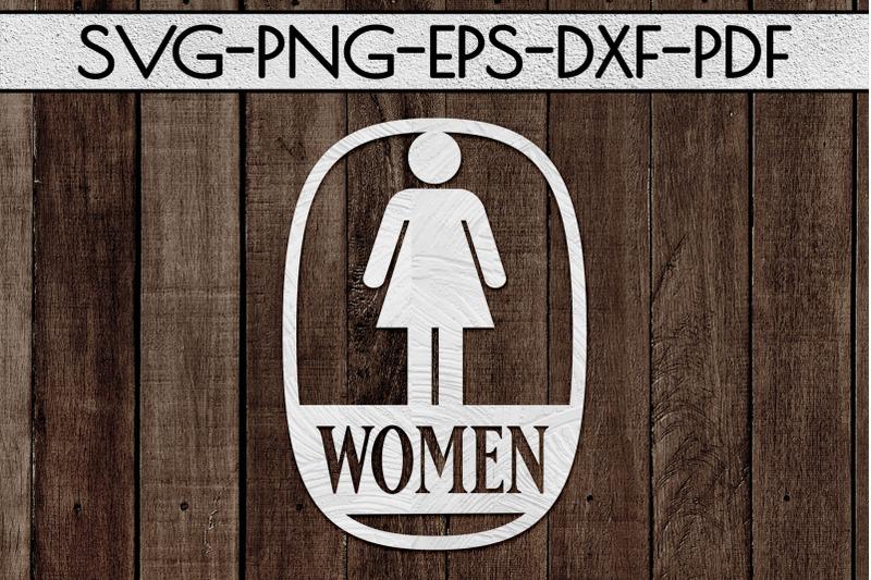 women-sign-papercut-template-toilet-decor-svg-pdf-dxf